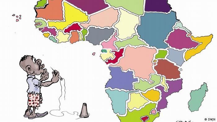 Karikatur von Michaël Maloji M., Demokratische Repubik Kongo (Foto: DWJN)