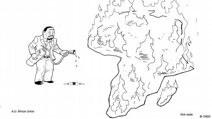 Karikatur von Dick Esale, Demokratische Republik Kongo (Foto: DWJN)