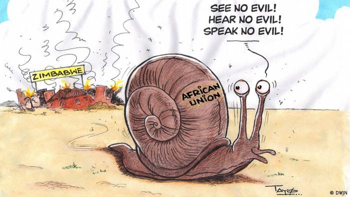 Karikatur von Tayo Fatunla aus Nigeria (Foto: DWJN)