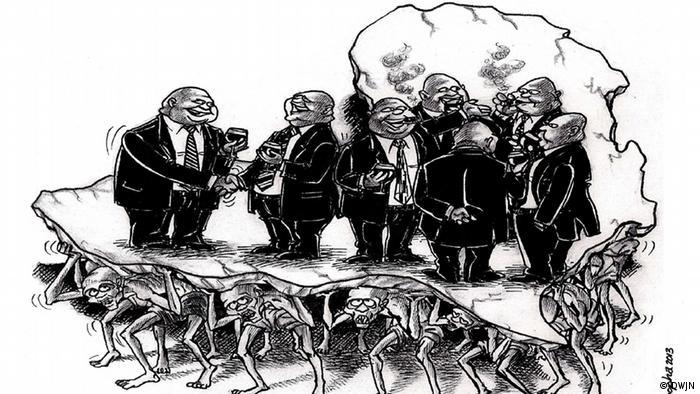 Karikatur von Siphiwo Sobopha S. Sobopha, Südafrika (Foto: DWJN)