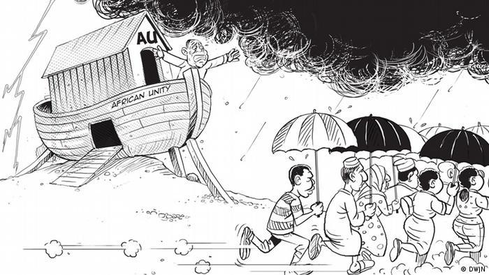 Karikatur von Victor Ndula aus Kenia (Foto: DWJN)