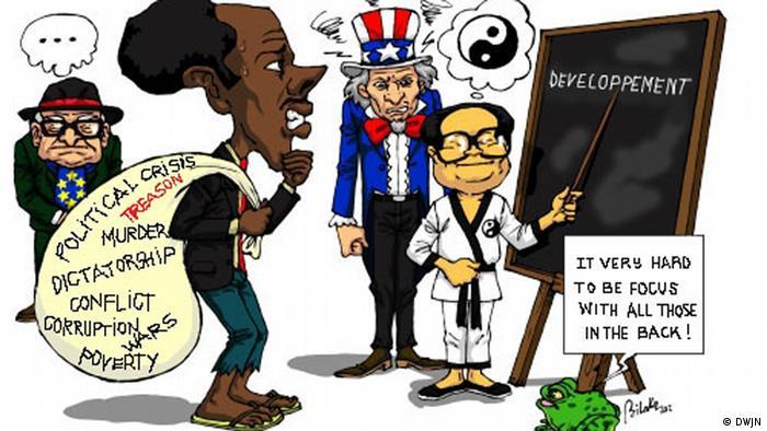 Karikatur von Junior Heritier Bilaka aus der Demokratischen Republik Kongo (Foto: DWJN)