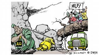 Karikatur von Samuel Mwamkinga, Tansania African Union challenges (Foto: DWJN (Dritte Welt Journalisten Netz))