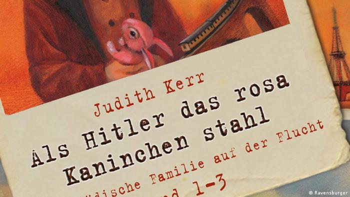 The German cover from Judith Kerr's book When Hitler Stole Pink Rabbit (Ravensburger)