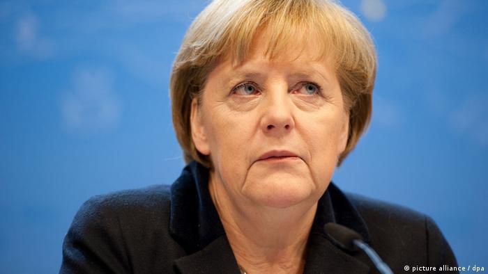 Porträtbild der deutschen Bundeskanzlerin Angela Merkel.