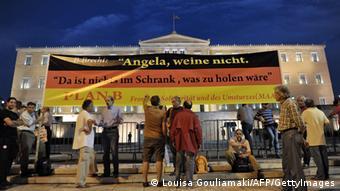 Protesta kundër Merkelit në Greqi