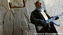 Wachposten an achäologischer Stätte im Irak
