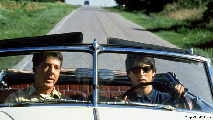 Image from director Berry Levinson's drama 'Rain Man' starring TOM CRUISE as Charlie Babbitt and DUSTIN HOFFMAN as Raymond Babbitt. Released on December 16, 1988. (Photo: by United Artists/ZUMA Press. (©) Copyright 2006 by Courtesy of United Artists)