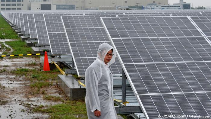Large-scale solar park in Kyoto, Japan