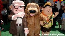 VERWENDUNG NUR ZUR BERICHTERSATTUNG ÜBER FILM/DVD Image #: 7873720 Carl Fredricksen, Dug and Russell during the premiere of the movie from Walt Disney Pictures and Pixar UP, held at the El Capitan Theatre, on May 16, 2009, in Los Angeles. Michael Germana /Landov