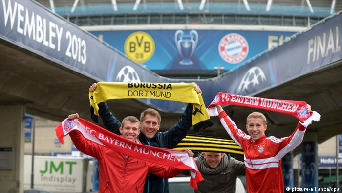 Champions League Fans in London