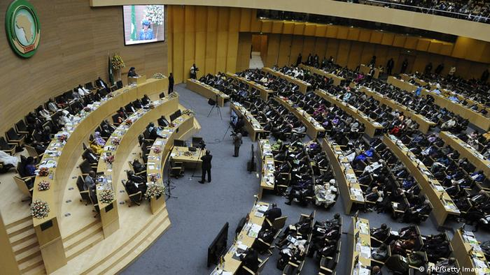 A general view shows delegates attending the 50th African Union Aniversary Summit in Addis Ababa (Photo: SIMON MAINA/AFP/Getty Images)