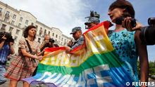 Demonstration Homosexuelle in Moskau