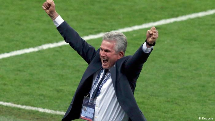 Heynckes celebrating winning the Champions League final with Bayern in 2013 (Reuters)