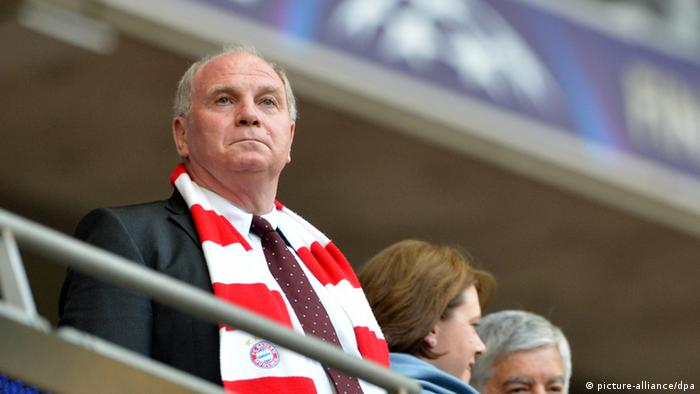 Uli Hoeneß during the Champions League final between Borussia Dortmund and Bayern Munich in London, England, 25 May 2013.