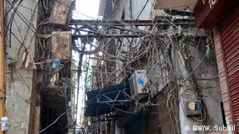 Stromversorgung in Indien (Foto: DW)