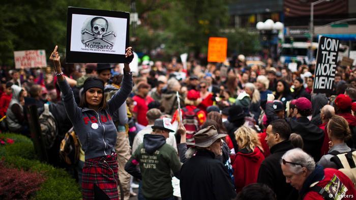 Demonstration gegen Monsanto in New York (Foto: Reuters)