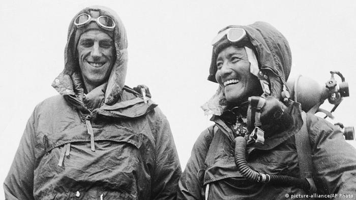 Sardar Tenzing Norgay und Edmund Hillary