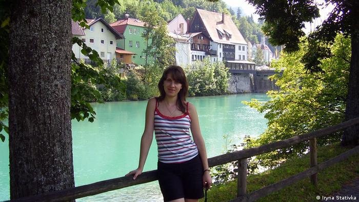 Прогулка у реки Лех в городе Фюссен