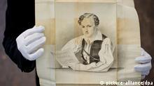 Georg Büchner Bleistiftzeichnung von August Hoffmann 1833