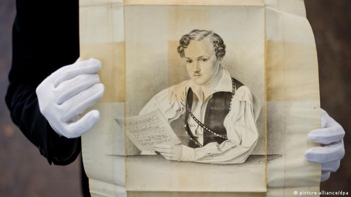 Eine Bleistiftzeichnung von August Hoffmann (1833), die höchstwahrscheinlich den hessischen Schriftsteller Georg Büchner zeigt. Foto: Nicolas Armer/dpa pixel