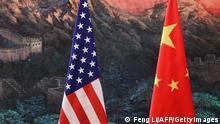 USA China Flaggen
