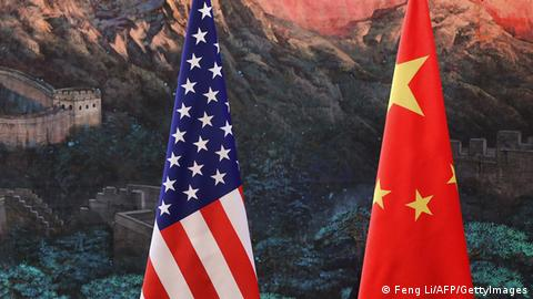 American and China flag