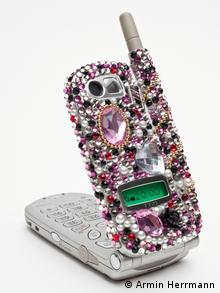 A jewel encrusted cell phone