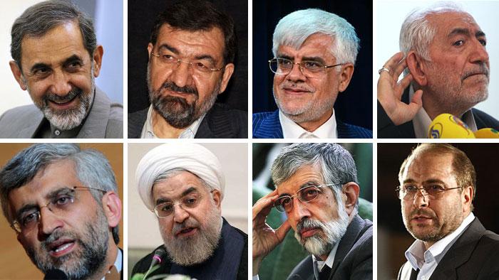 Bildkombo Präsidentschaftskandidaten Wahlen im Iran