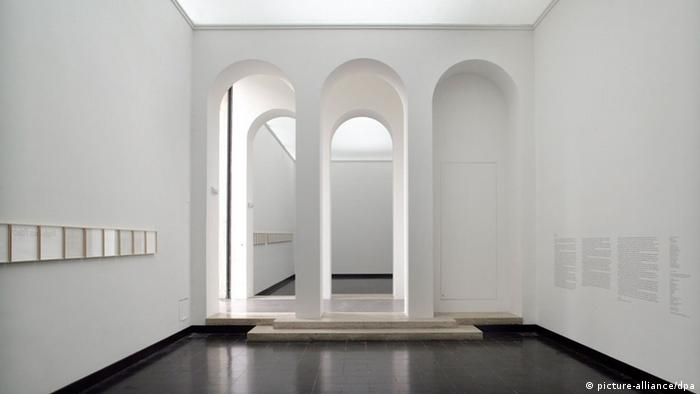 The white interior of a modern architectural space.
