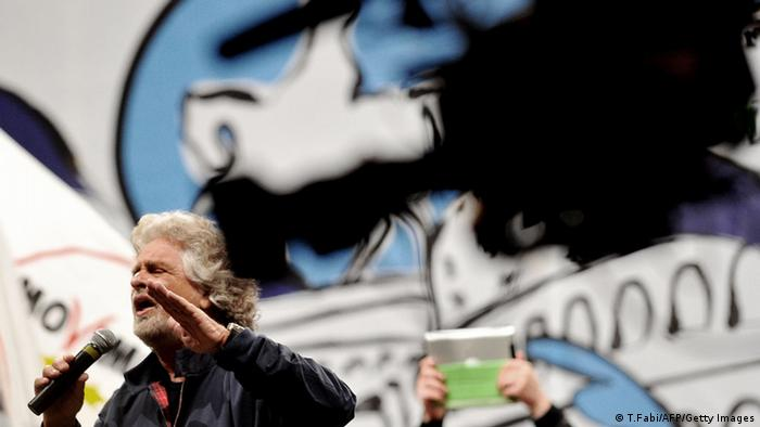 Beppe Grillo (Foto: T.Fabi/AFP/Getty Images)