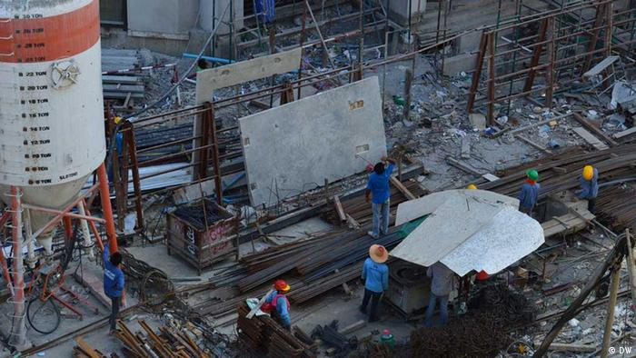 A construction site for a new condominum in Bangkok. (Photo: DW)