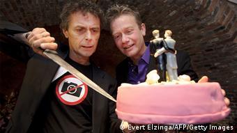Belgian gay wedding (Photo EVERT ELZINGA/AFP/Getty Images)