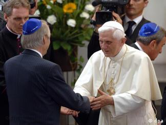 The pope with the former head of Germany's Jews