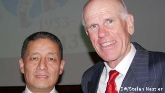 Jamling Tenzing Norgay und Peter Hillary, Söhne der Mount-Everest-Erstbesteiger Tenzing Norgay und Edmund Hillary