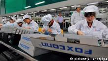 Foxconn Angestellte Fabrik Apple IPhone China (picture-alliance/dpa)