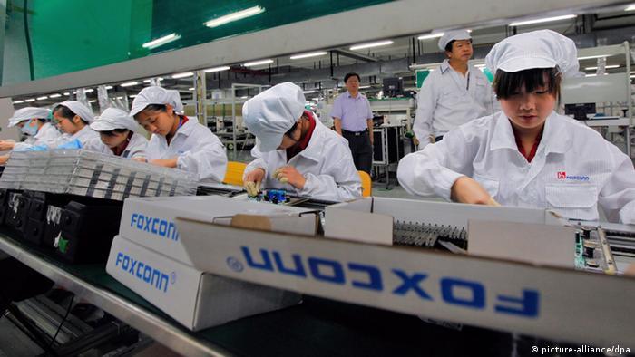 Foxconn Angestellte Fabrik Apple IPhone China