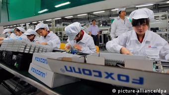 Çin'deki Foxconn fabrikası