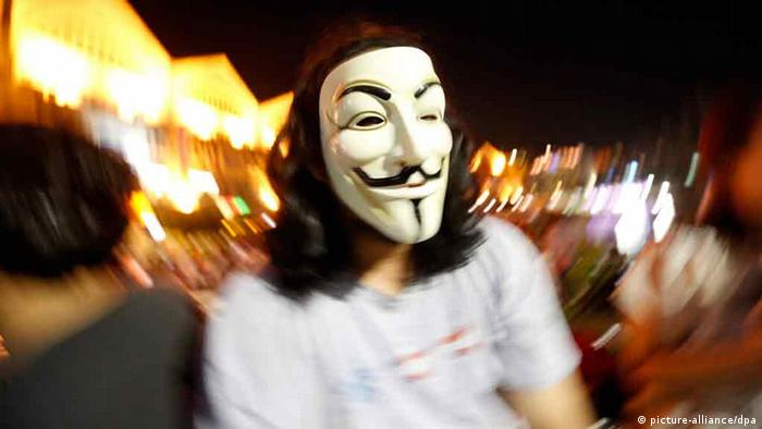 Máscara Guy Fawkes: de Anonymous e Occupy à Primavera Árabe