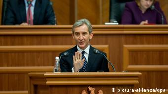Leanca in parliament EPA/DUMITRU DORU