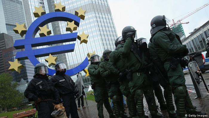 Акция протеста во Франкфурте