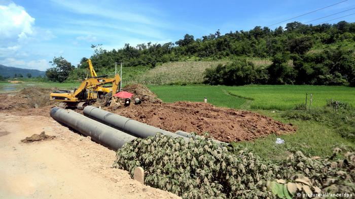 The Myanmar China Gas Pipeline (Photo: EPA/NYEIN CHAN NAING)