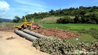 Myanmar China Gas-Pipeline