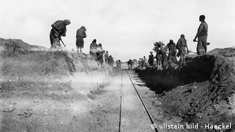 Namibia Geschichte Deutsch-Südwestafrika Bau von Eisenbahnstrecke