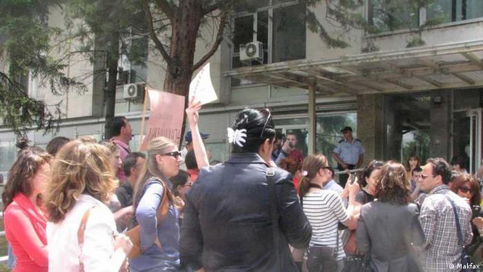 Prosvjed novinara u Skopju ovog svibnja