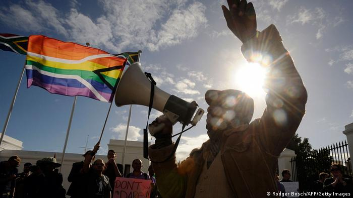 The LGBT community faces persecution across Africa - homosexuality is illegal in 38 of 54 countries on the continent