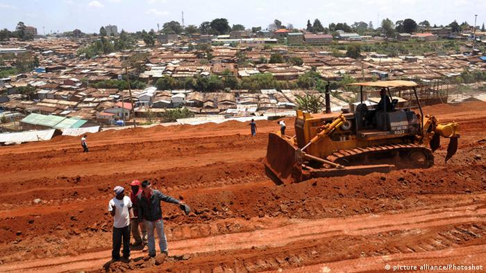 A road udner construction in Kenya
