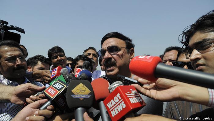 شیخ رشید احمد، وزیر داخله پاکستان