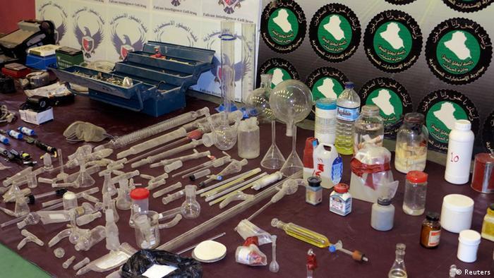 Irak Bagdad Verteidigungsministerium Chemiewaffen Material konfisziert