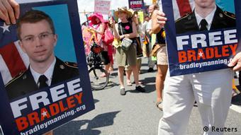 Demonstration Bradley Manning Wikileaks